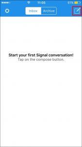 Öffnen Sie die App und klicken Sie auf das Symbol in der oberen rechten Ecke.