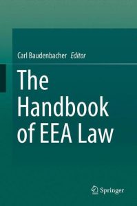 The Handbook of EEA Law_Cover